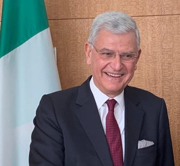 BM 75. Genel Kurul Başkanlığı'na TBMM Dışişleri Komisyonu Başkanı BüyükelçiVolkan Bozkırseçildi.