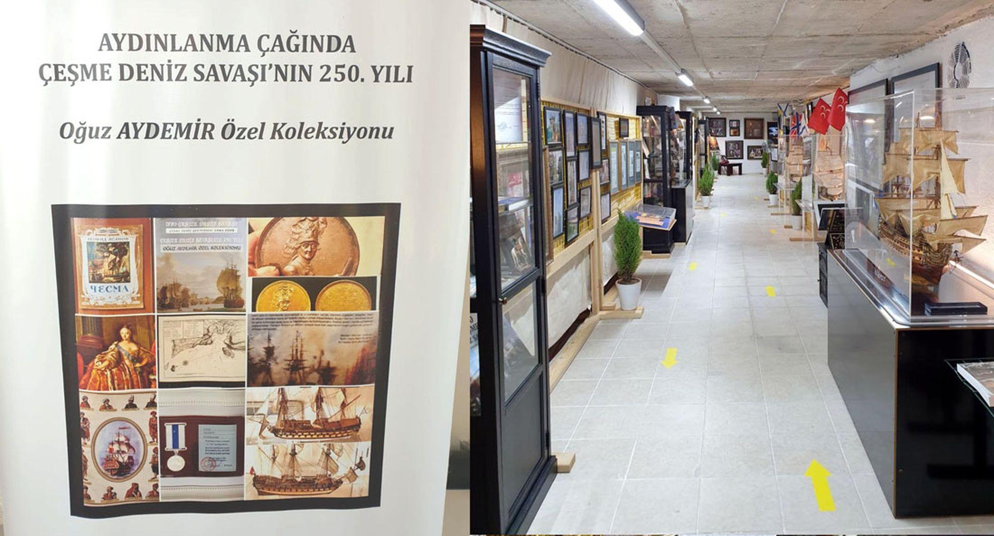 Oğuz Aydemir'in 20 yıldır 1770 Çeşme Deniz Savaşı'na ait belge ve objeleri topluyor
