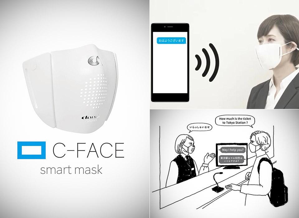 Sekiz dili konuşabilen ve sosyal mesafe uyarısı yapan 'Akıllı Maske' üretildi!