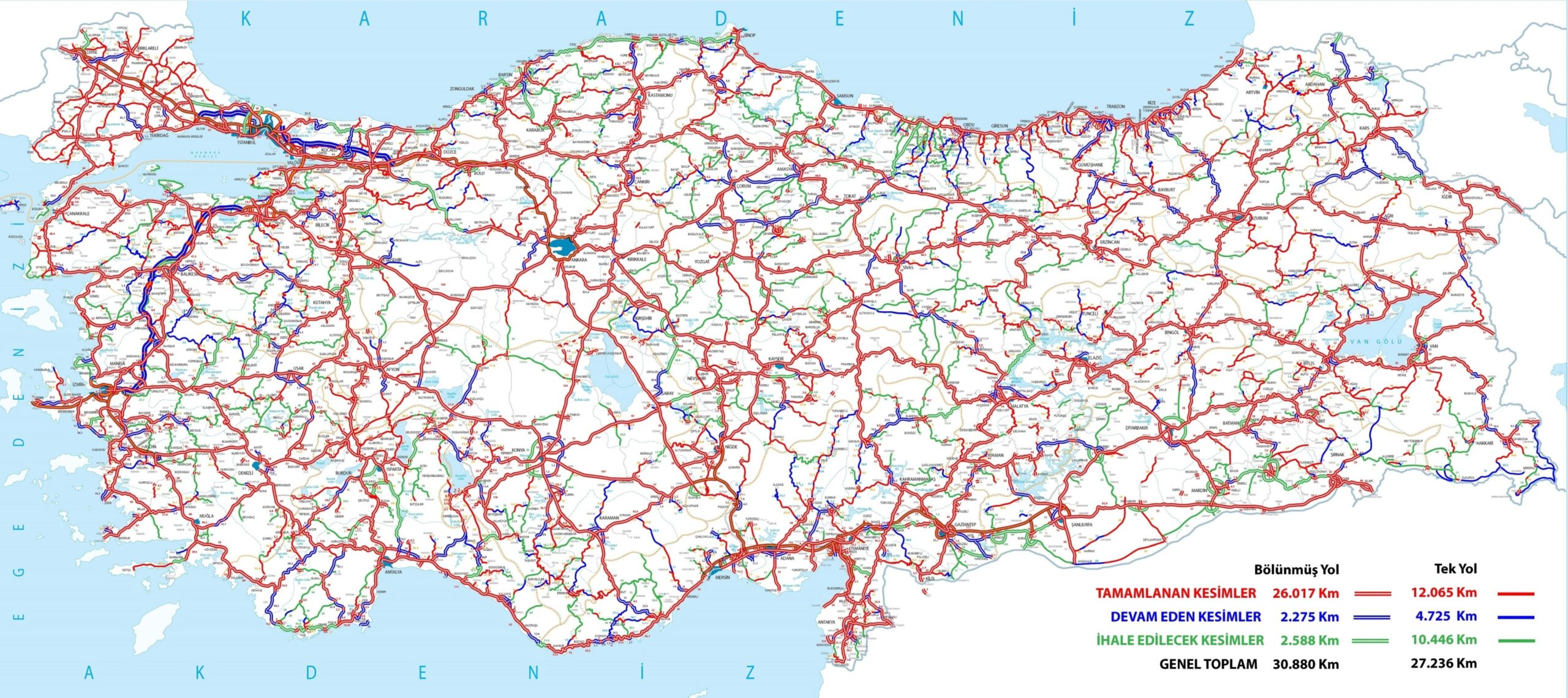 Bölünmüş yollar trafikte geçen süreyi yüzde 50 oranında kısalttı