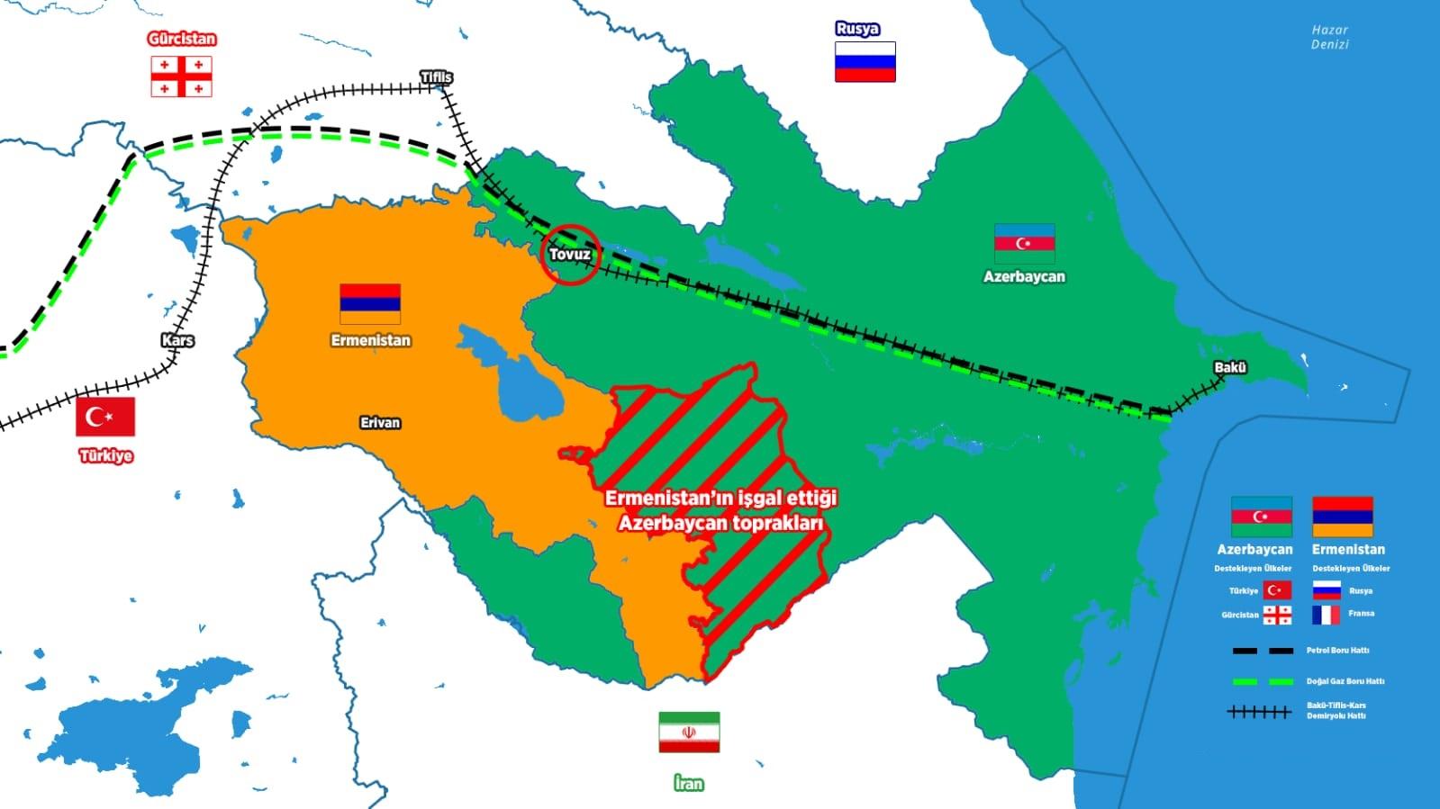 İşgalci Ermenistan, Azerbaycan'a cephe hattı boyunca taciz saldırılarında bulundu