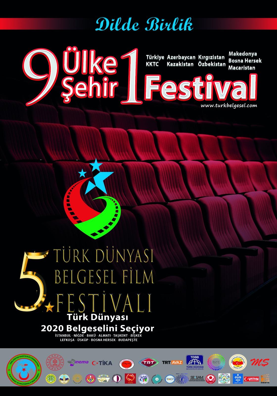 Türk Dünyası Gazeteciler Federasyonu Belgesel Film Festivali Gala törenleri yapılıyor