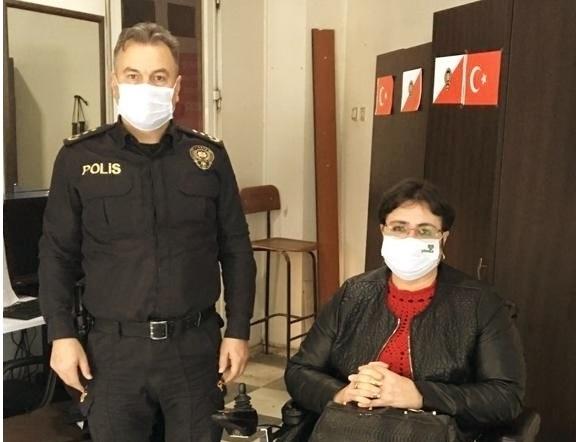Manisa Bedensel Engelliler Derneği' nden İlçe Emniyet Müdürü Nuri Özgün'e ziyaret