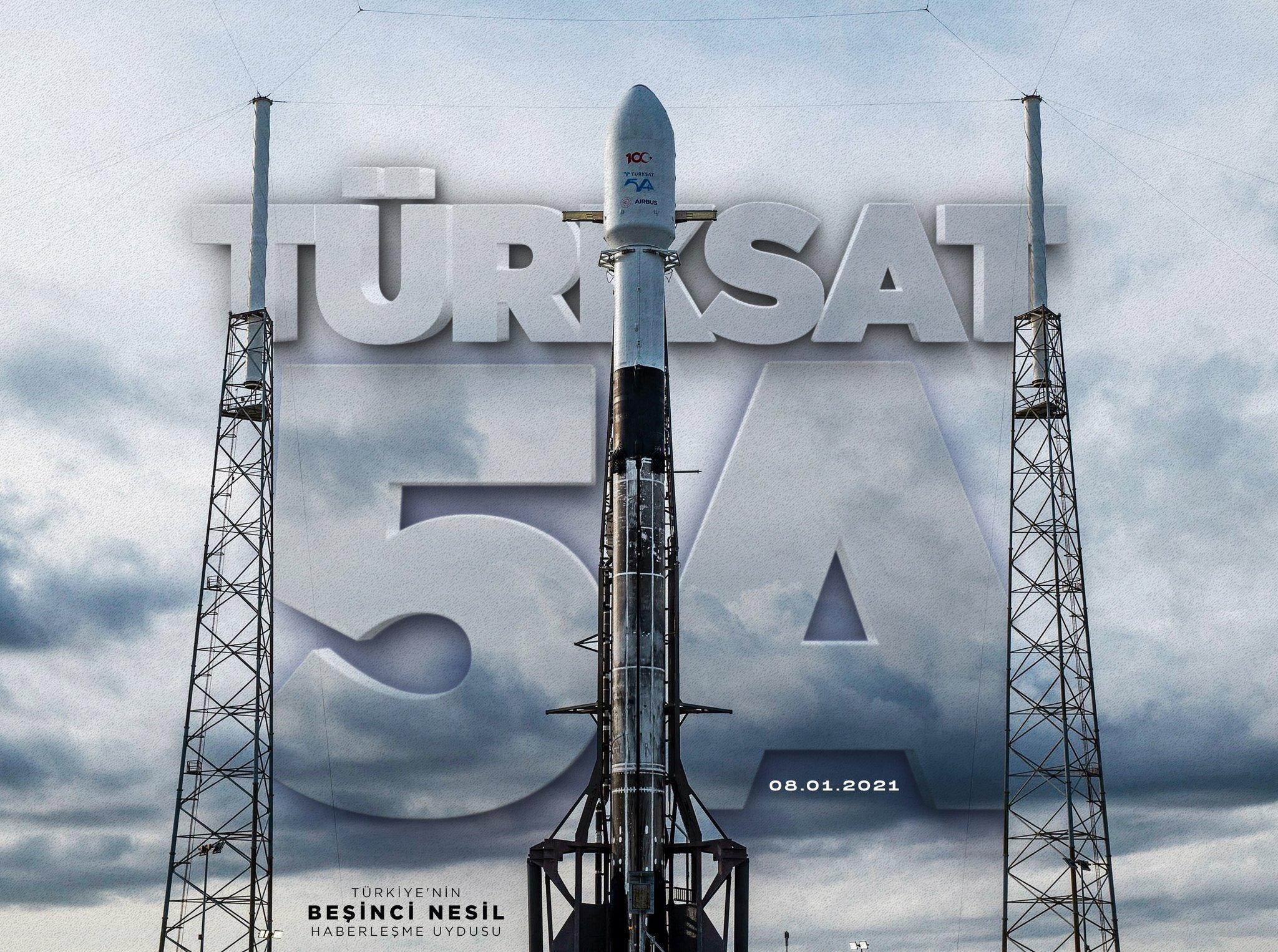 Türkiye'nin yeni Türksat 5A Uydusu, ABD'den fırlatıldı