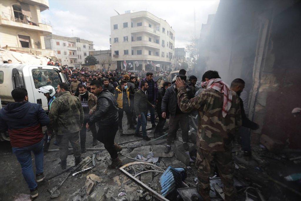 Suriye'de, Bab ve Azez'e düzenlenen terör saldırıları yine sivilleri hedef aldı