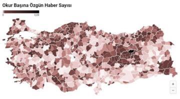 Haber sayısı ve özgün habercilikte bölgeler arasında ilginç sonuçlar alındı