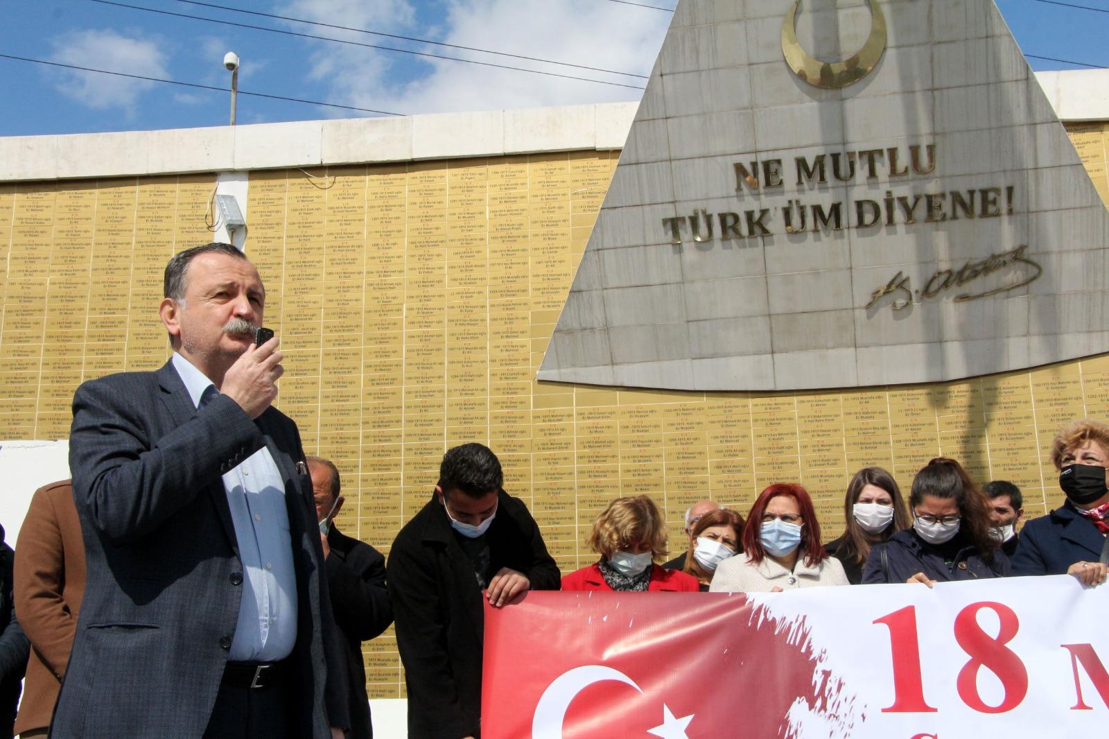CHP 'Andımız'la Çanakkale Şehitlerini Andı