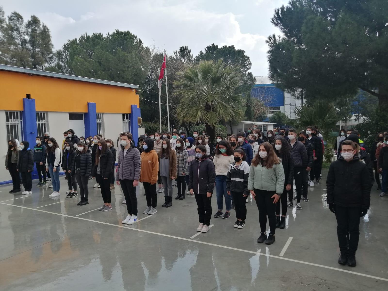 Hedef Lisesi, Çanakkale Zaferini ve Şehitlerini Unutmadı