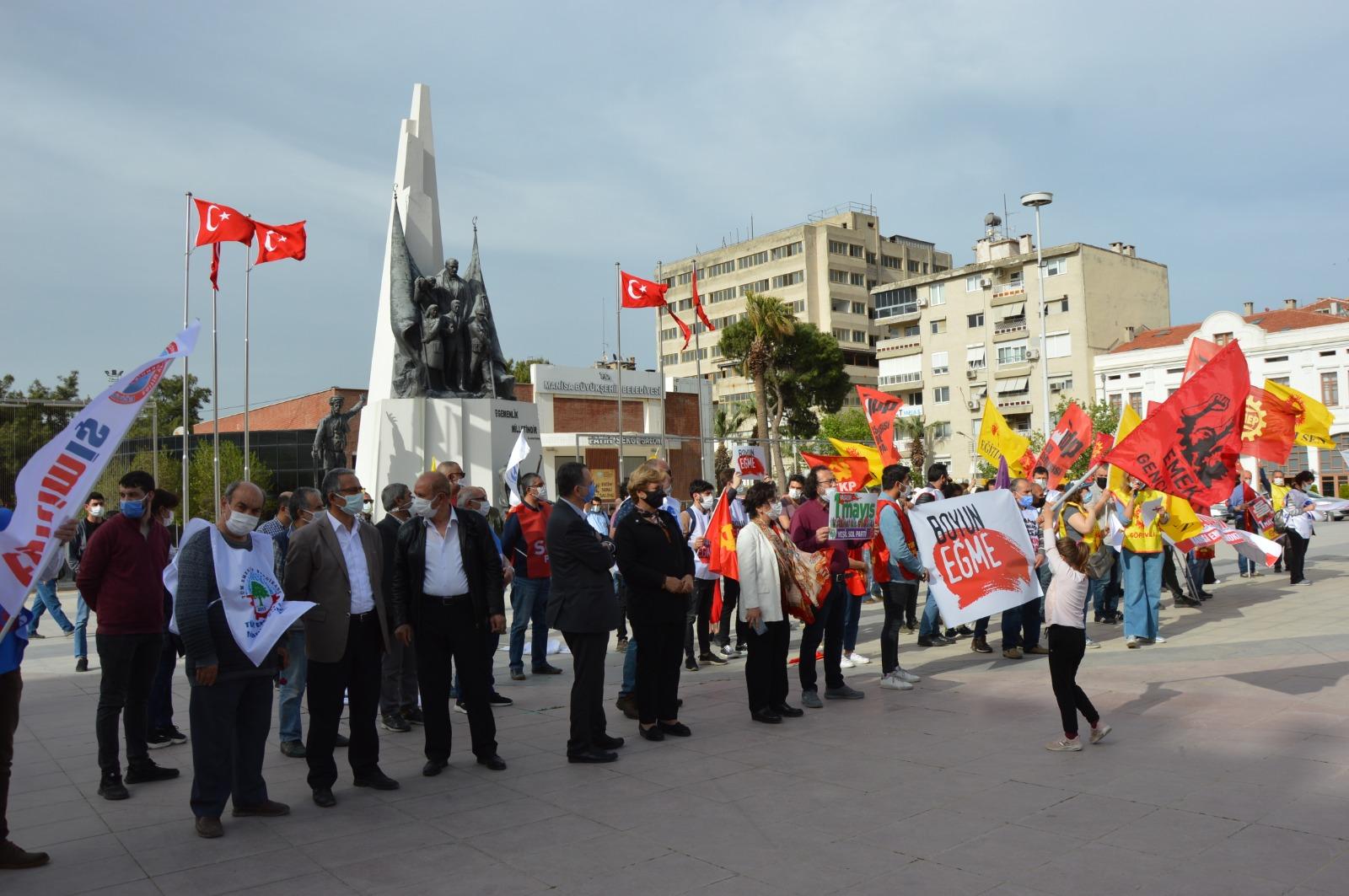 Manisa'da erken 1 Mayıs kutlaması