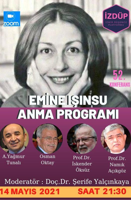 İzmir Düşünce Platformu Emine Işınsu Öksüz' ü anma adına bir panel düzenledi