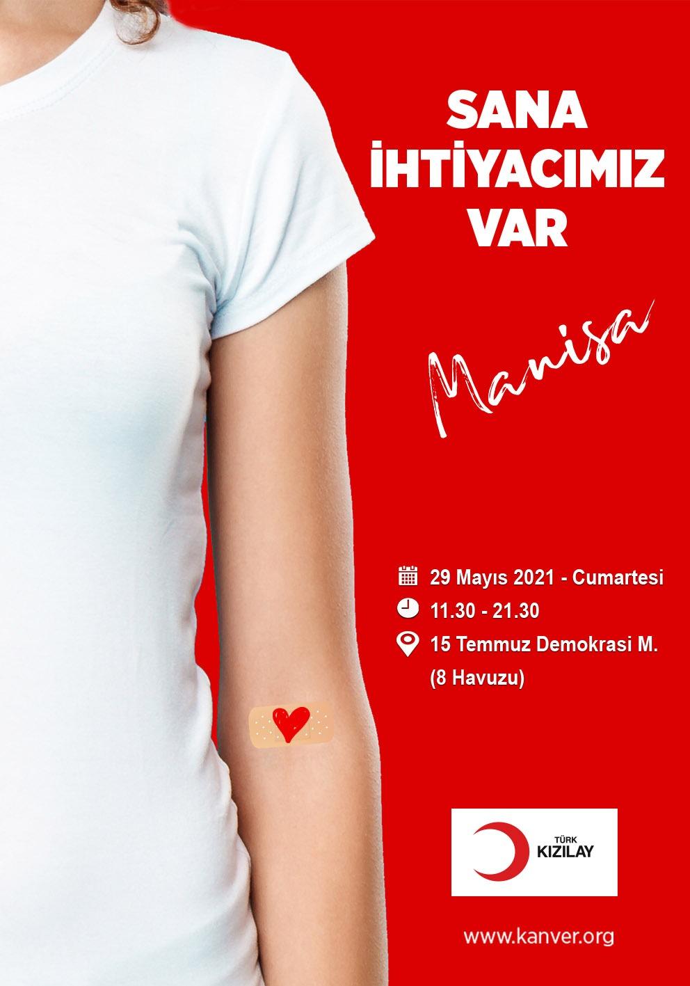 Haydi Manisa kan bağışına destek ver