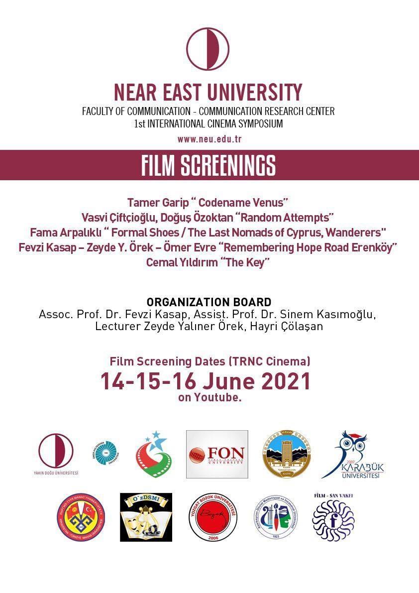 1.Uluslararası sinema sempozyomu gerçekleştiriliyor..