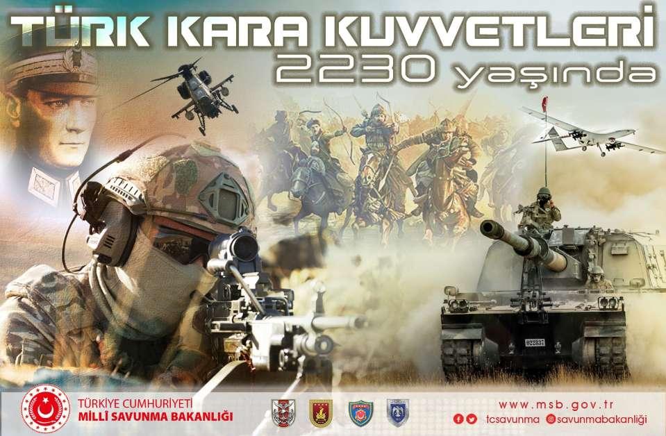 Mete'den çağlara…Türk Kara Kuvvetleri Komutanlığı 2 bin 230 yaşında.
