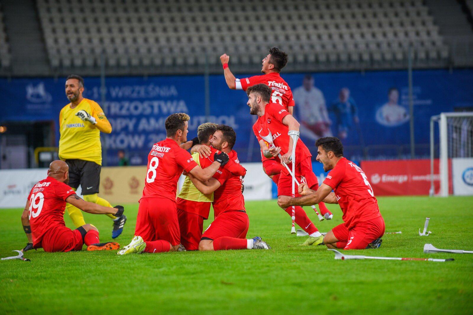Ampute Futbol Milli Takımımız Avrupa Şampiyonu!