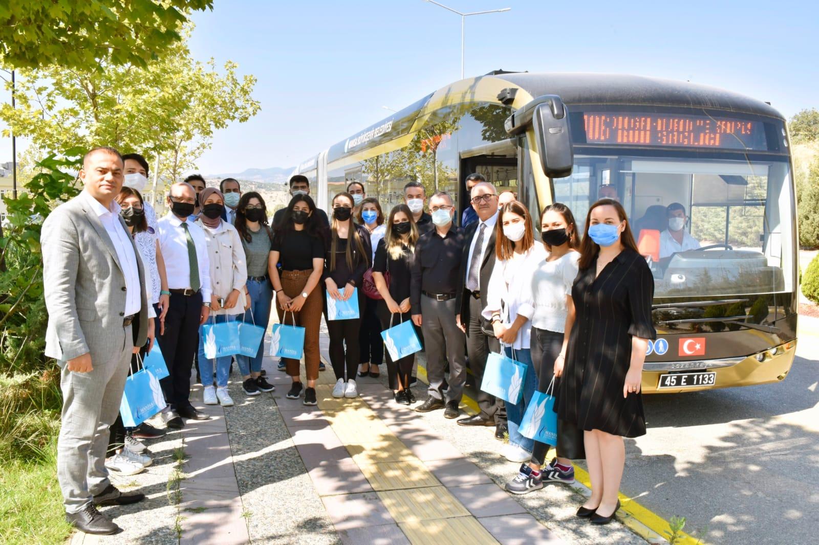 Elektrikli Otobüsler MCBÜ Kampüsü İstikametinde Hizmete Başladı
